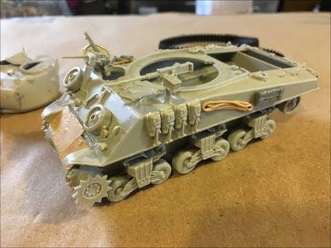 Building the Hobbyboss 1:48 scale Sherman M4A3 Tank!