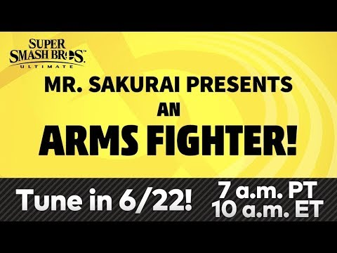Super Smash Bros. Ultimate – Mr. Sakurai Presents a Fighter from ARMS | Countdown and Watch-along!