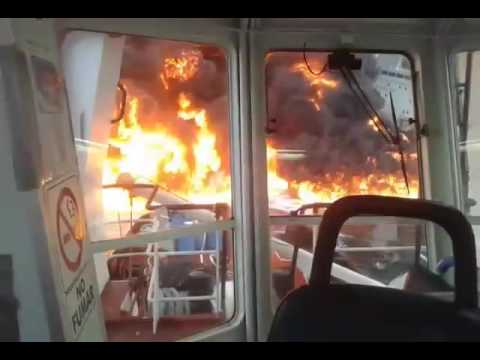 OIL TANKER FIRE Gulf of Mexico