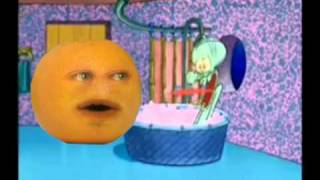 The Annoying Orange Drops By Squidward