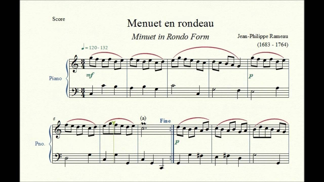 Menuet en rondeau (Minuet in Rondo Form) - Jean-Philippe Rameau ...