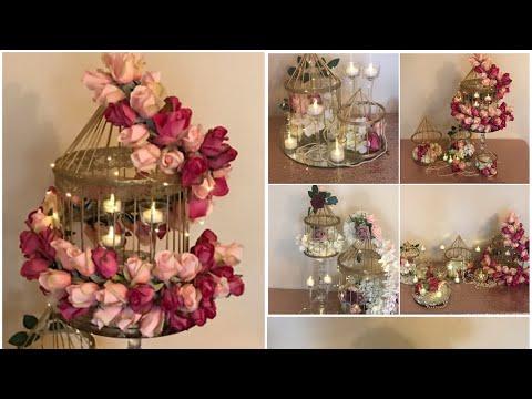DIY- Bird Cage Floral Decor DIY- Bird Cage Garland Diy- Wedding Decor