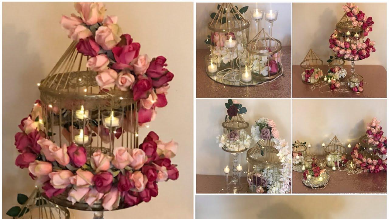 Diy Bird Cage Floral Decor Diy Bird Cage Garland Diy Wedding Decor Youtube
