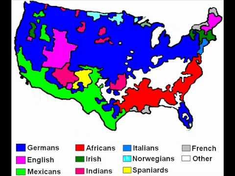 ethnic map of america youtube