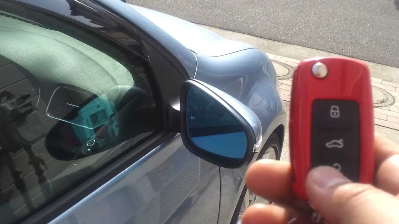 Collapsible Car Doors : Vw golf mk auto folding door mirror youtube