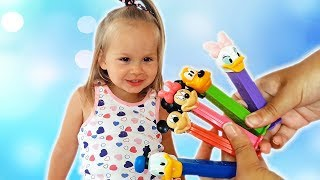 Nika plays with Toys and Learn Colors Finger Family Song and more Nursery Rhymes by Happy Nika