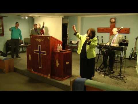 "Betty Jean Robinson singing ""It's Gonna Rain"" at Greater Rain Community Church"