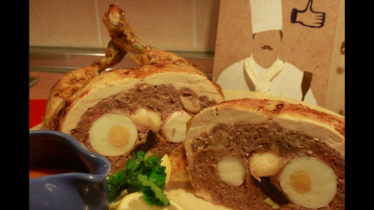 Como hacer pollo relleno i recetas de cocina youtube for Cocinar en frances