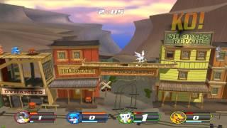 Digimon Rumble Arena 2: 1 player vs 3 cpu Western Town (60fps)