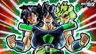 NEW EPIC ANIMATED DBS BROLY TRIPLE FORMS SKILL! Dragon Ball Xenoverse 2 Broly Custom Transformations
