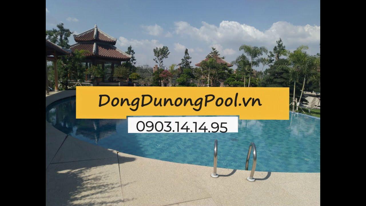Lắp đặt thiết bị bể bơi biệt thự vườn anh Huê Q.9 – Hồ Chí Minh