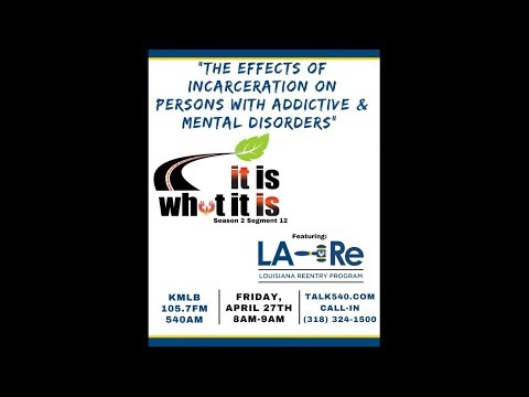 It Is What It Is - The Effects Of Incarceration On Persons with Addictive & Mental Disorders