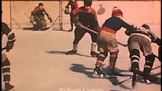 1949 KIDS HOCKEY FOOTAGE.  Filmed in Montreal, Canada