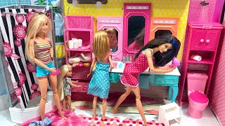 Barbie Chelsea Stacie Skipper Funny Morning Routine!!