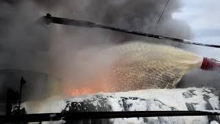 Миколаївська область: вогнеборці ліквідували пожежу на території нафтобази