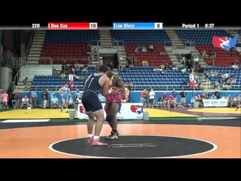 Fargo 2012 220 Round 4: J`Den Cox (Missouri) vs. Trae Story (Minnesota)