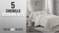 Top 10 Chenille Bedding Sets [2018]: Sabrina 3 Piece Cotton Chenille Bedspread Set White King/Cal