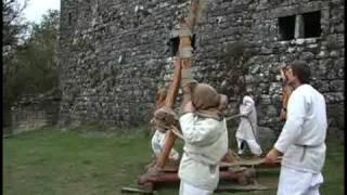 Medieval War Machine In Action