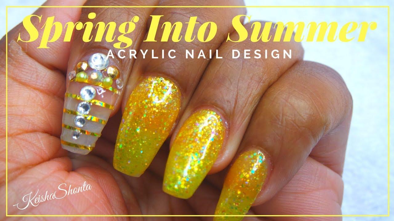 DIY ACRYLIC NAIL DESIGN | SPRING INTO SUMMER!! - DIY ACRYLIC NAIL DESIGN SPRING INTO SUMMER!! - YouTube