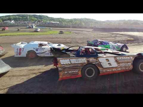 Peoria speedway 7-8-17 Matt Murphy sblm heat race
