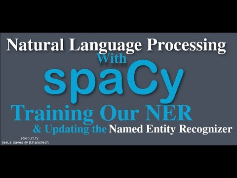 SpaCy Python Tutorial - Training & Updating Our Named Entity Recognizer