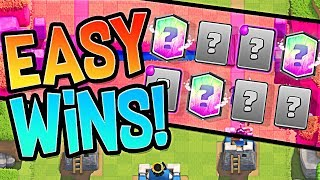 Easy Wins ::  NEW SPELL BAIT CLASH ROYALE :: Clan Wars