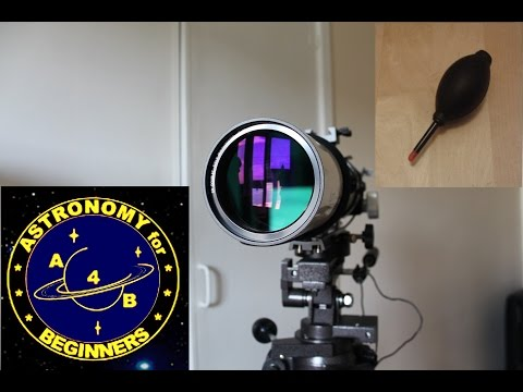 How to clean a Refracting telescope