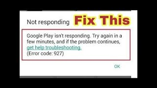 How to fix error 927 in play store (easy)