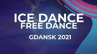 LIVE Ice Dance Free Dance Gdansk 2021 JGPFigure