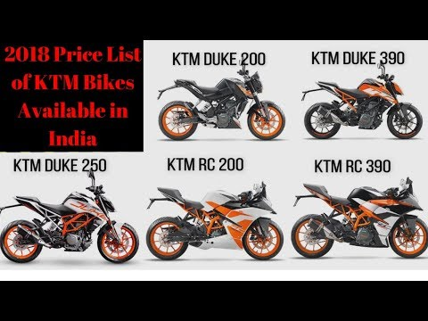KTM BIKES PRICE LIST | BORN CREATOR