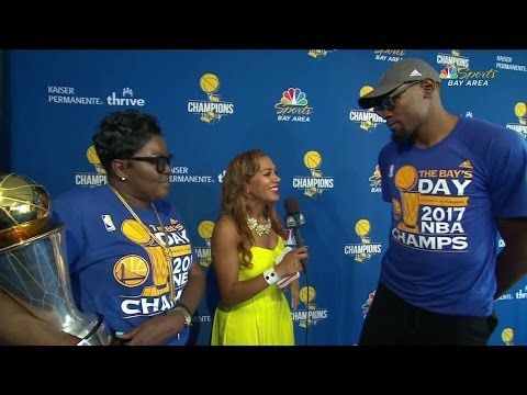 Kevin Durant, mother describe long road to title
