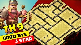 BEST TH9 WAR BASE 2018 | Don't Touch My Base {{ A3S }} | Clashofclans
