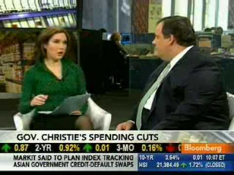 Governor Christie on BLOOMBERG TV: March 17, 2010 - YouTube