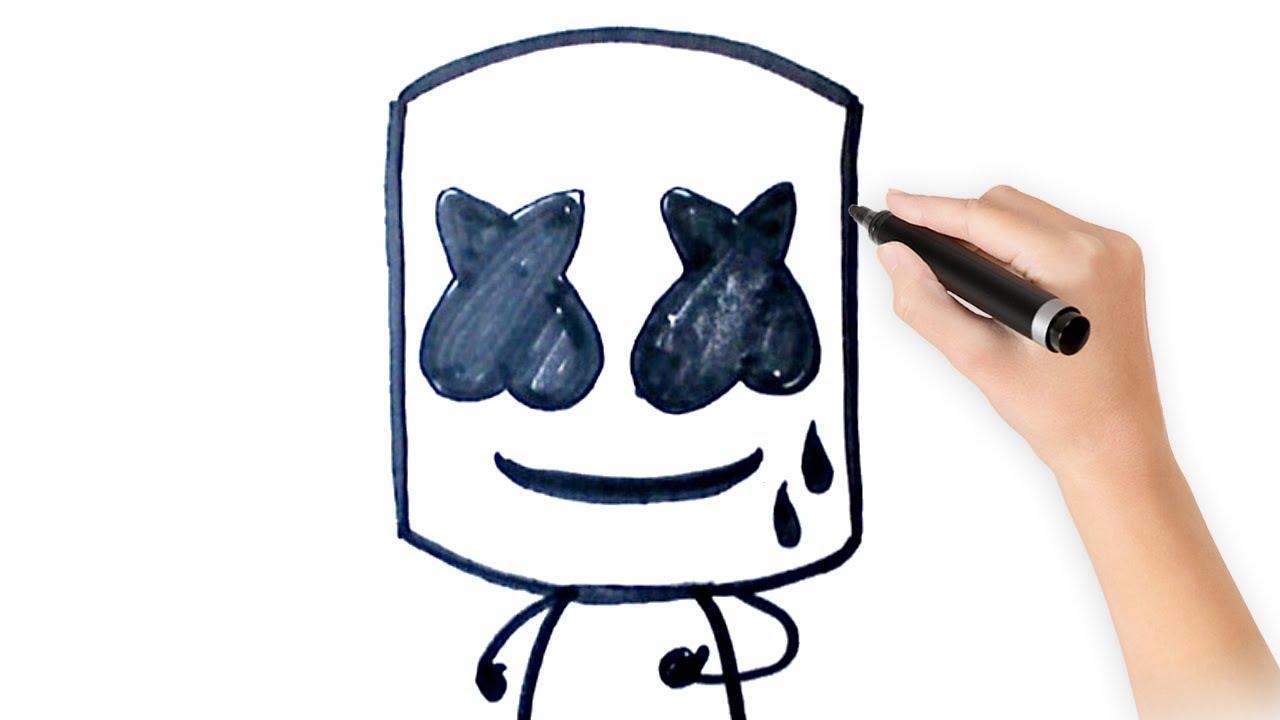 Como Dibujar A Marshmello Pop Paso A Paso How To Draw Marshmallow Pop