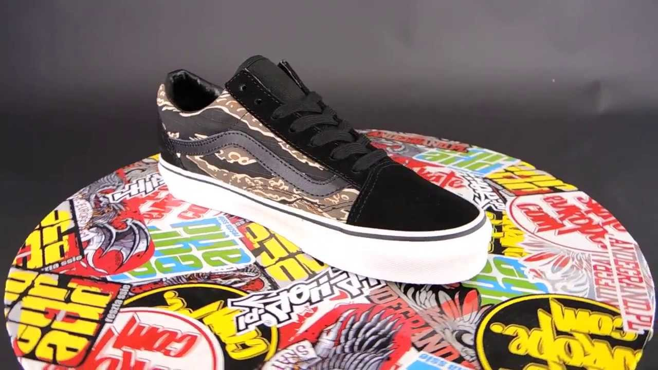 907500d549 VANS Old Skool  (SUEDE) TIGER CAMO  BLACK  - YouTube