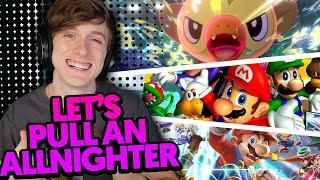 PULLING AN ALL NIGHTER! | Pokemon, Smash Bros, etc.