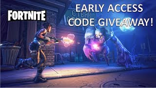 Fortnite: Early Access Code Giveaway! [CLOSED]