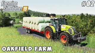 Selling silage bales, sowing barley | Farming on Oakfield Farm | FS 19 | Timelapse #02