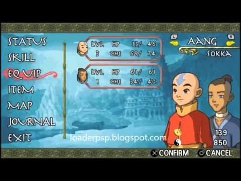 Avatar The Last Airbender PSP Iso YouTube - Avatar the last airbender us map
