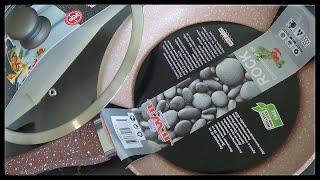 Обзор сковороды с ГРАНИТНЫМ покрытием, гранитная крошка