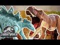 Dinosaur Battles: T-Rex VS Stegosaurus | Jurassic World | Mattel Action!