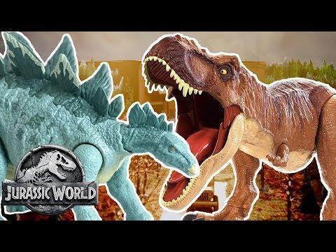 Dinosaur Battles: T-Rex VS Stegosaurus | Jurassic World | Mattel Action! letöltés