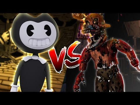 Thumbnail: Minecraft BENDY AND THE INK MACHINE VS FNAF FOXY - WHO IS THE MOST EVIL BENDY OR FOXY????
