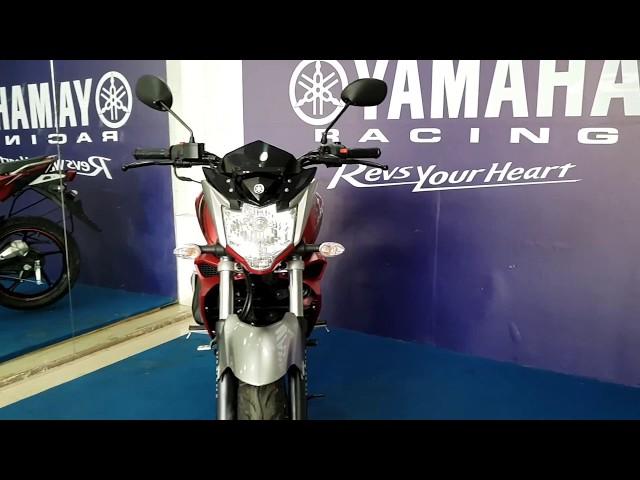 All New Yamaha FZS Dark Night and Knight Red Colors Walkaround 1080p 60fps