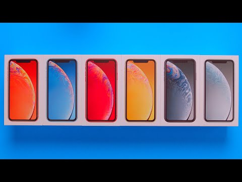 All iPhone XR Colors Unboxing + Comparison