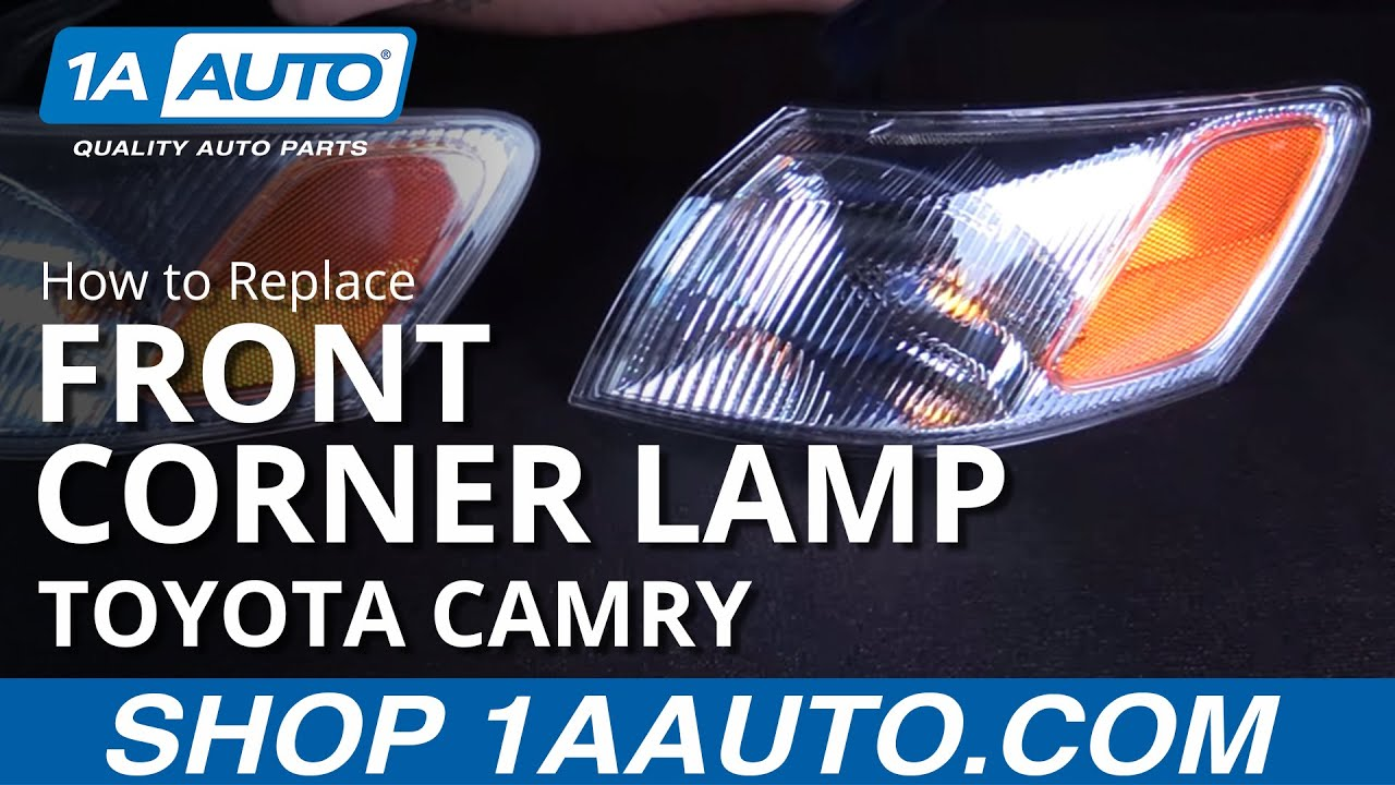 hight resolution of how to replace front corner lamp 97 99 toyota camry