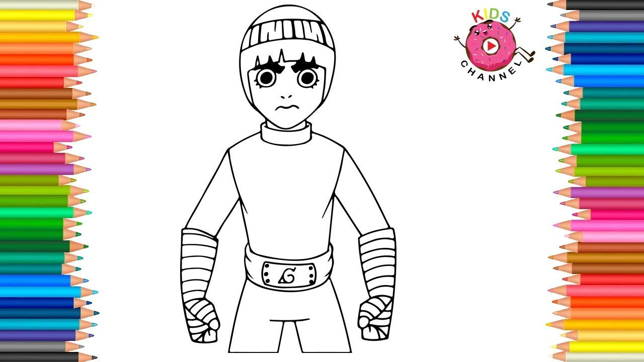 How to Draw Rock Lee | Naruto Coloring Page | Coloring Book - Kids ...