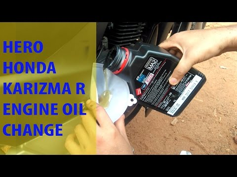Karizma R Engine Oil Change