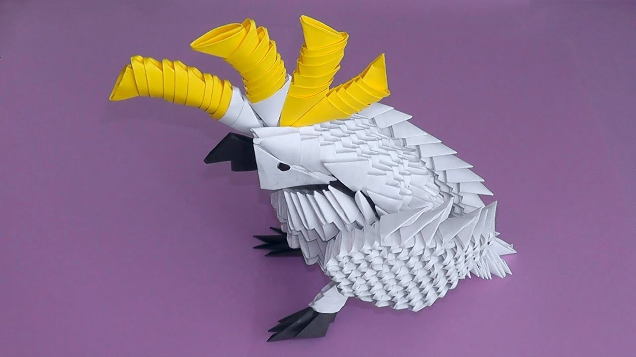 3D origami cockatoo parrot tutorial (instruction) - YouTube - photo#50