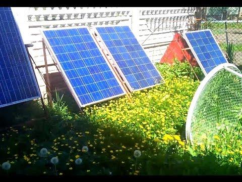 Солнечная электростанция дома на 500 Вт